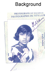 A picture of a passport photo - used as a header for the category of Background