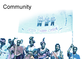 A picture of the Leicester Carnival - used as a header for the category of Community
