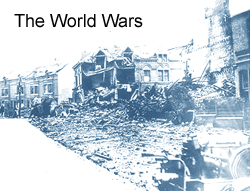 A picture of a bombed building - used as a header for the category of Wars
