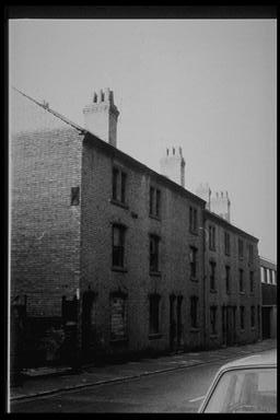 A picture of a row of large terraced houses