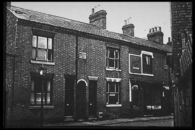 A picture of the front of a row of terraced houses