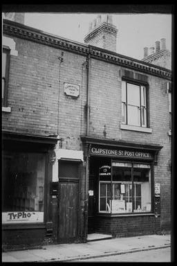 A picture of the old clipstone post office - a converted terraced house