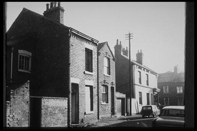 A picture of a variety of empty terraced houses