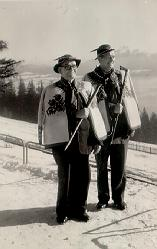 A picture of my father [ on the left] on holiday in Zakopane in the fifties.