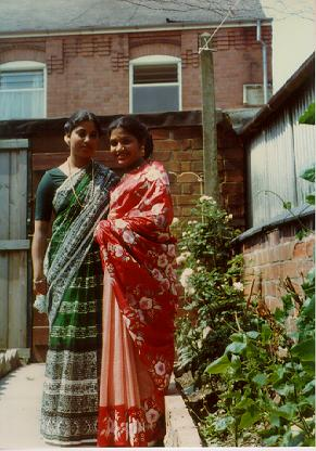 A photograph of Delowara Alam and her eldest sister-in-law