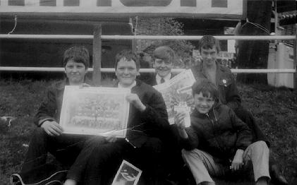 Me and some pals from Crown Hills Secondary School, at Wembley for a Schoolboy International in 1968. A photograph by Brett Pruce.